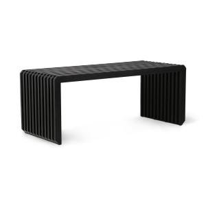 Bancheta neagra din lemn de sungkai 96 cm Teri HK Living