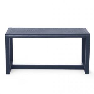 Bancheta pentru copii din lemn albastru inchis 62x30 cm Little Architect Ferm Living