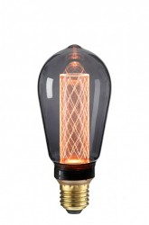 Bec filament LED negru transparent 2,5W Circus Black NUD Collection