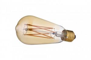Bec LED dimabil E27 4W Flachmann Gold Bolia