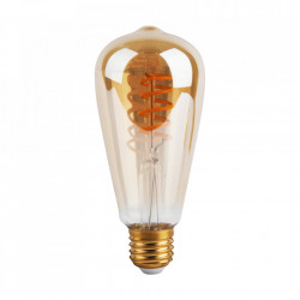 Bec maro chihlimbar cu filament LED E27 4W Vintage Gold Opjet Paris