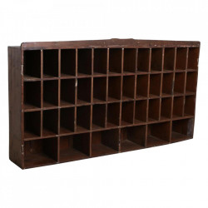 Biblioteca maro din lemn de tec 105 cm Pigeon Raw Materials