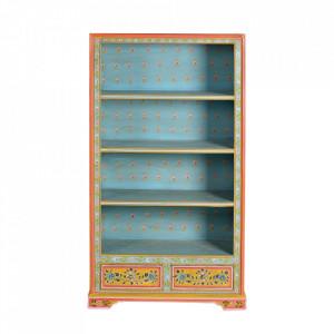 Biblioteca multicolora din lemn de mango 144 cm Ariella Giner y Colomer