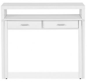 Birou alb din lemn si MDF 36x100 cm Console Woodman