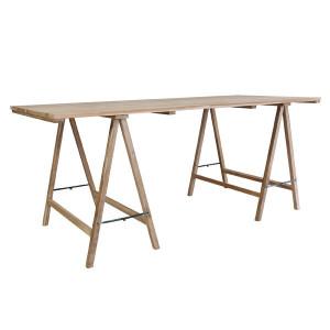 Birou din lemn tec 180x80 cm Trestle HK Living