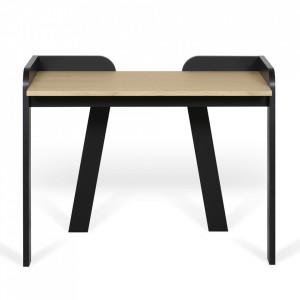 Birou maro/negru din lemn 58x105 cm Maya TemaHome