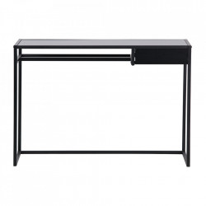 Birou negru din metal si MDF 50x110 cm Teun Woood