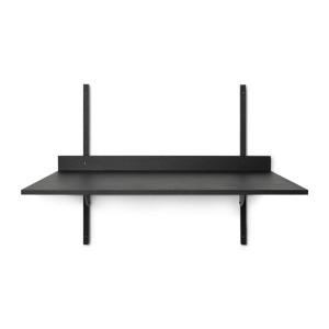 Birou pentru perete negru din placaj 45x87 cm Sector Ferm Living