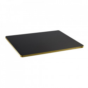 Blat pentru masa negru/auriu din lemn 60x75 cm Sanba Serax