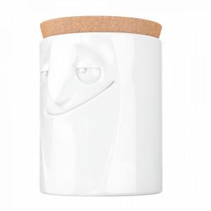 Borcan alb din portelan 1,7 L Charming Tassen