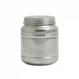 Borcan cu capac argintiu din inox 1100 ml Cani Nordal