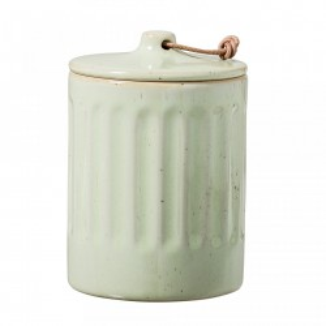 Borcan gri din ceramica cu capac 350 ml Green Bloomingville