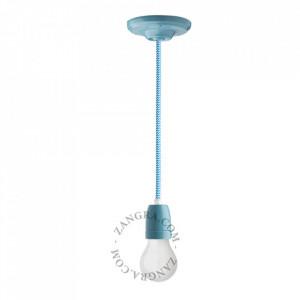 Cablu alb/albastru din PVC si textil 1 m Marshall Zig Zag Zangra