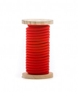 Cablu rosu din PVC si bumbac 5 m Philo Red Seletti