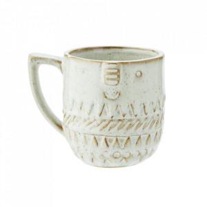 Cana alb antic din ceramica 9x9 cm Gloria Madam Stoltz