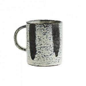 Cana alba/albastra din ceramica 7,5x9 cm Okai Madam Stoltz