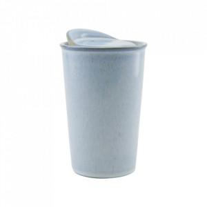 Cana albastra din ceramica 9x14 cm Togo House Doctor