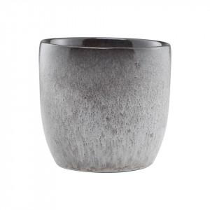 Cana gri din ceramica 8x8 cm Stone Nicolas Vahe
