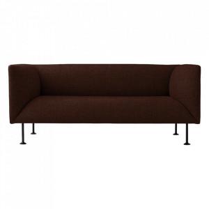 Canapea din textil si otel pentru 2 persoane Godot Colline Menu