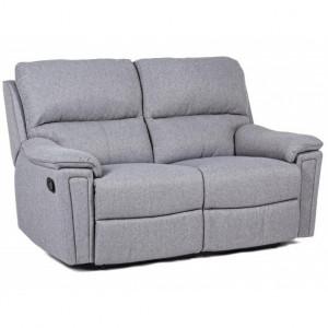 Canapea extensibila gri din poliester si otel 157,5 cm Olivia Bizzotto