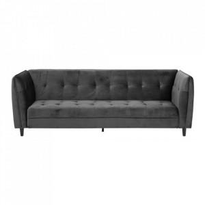 Canapea extensibila gri inchis/neagra din lemn si textil 235 cm Jonna Actona Company