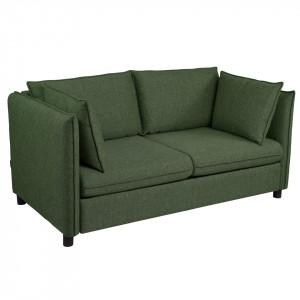 Canapea extensibila verde din poliester si lemn pentru 2 persoane Enzo Mesonica