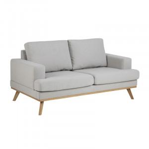 Canapea gri/maro din lemn si textil pentru 2 persoane Norwich Actona Company