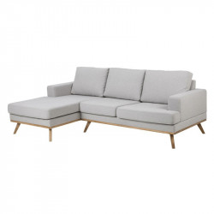Canapea gri/maro din textil si lemn cu colt pentru 2 persoane Norwich Left Actona Company