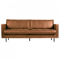 Canapea maro din piele 230 cm Rodeo Cognac Classic Be Pure Home