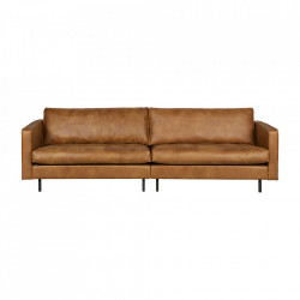 Canapea maro din piele pentru 3 persoane Rodeo Classic Cognac Be Pure Home
