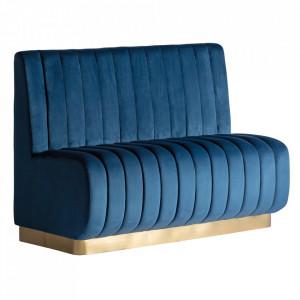 Canapea modulara albastra din catifea si placaj 140 cm Jayat Vical Home