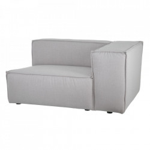 Canapea modulara gri din poliester si lemn 134 cm Bandon Right Denzzo