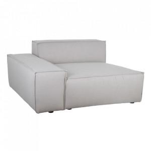 Canapea modulara gri din poliester si lemn 134 cm Filasum Left Denzzo