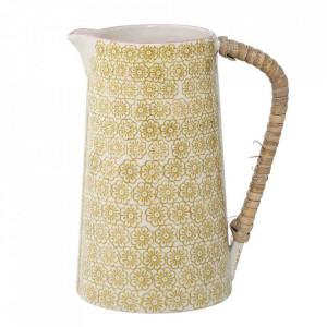 Carafa alba/galbena din ceramica 800 ml Susie Bloomingville