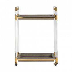 Carucior multicolor din MDF si inox Calesta Trolley Faux Richmond Interiors