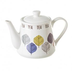 Ceainic alb/multicolor din ceramica 1 L Garbat Unimasa