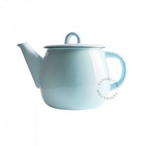 Ceainic ivoriu/albastru din email 1 L Lara Zangra
