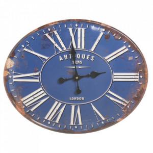 Ceas albastru din metal 39x49 cm Antiques Ixia