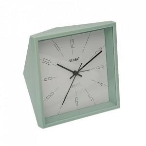 Ceas de masa patrat verde menta din plastic 15x15 cm Minnie Versa Home