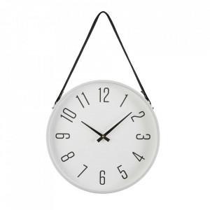 Ceas de perete rotund alb/negru din metal 40 cm Rosalia Versa Home