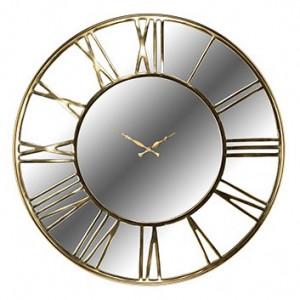 Ceas de perete rotund auriu din inox si sticla 76 cm Greyson Richmond Interiors