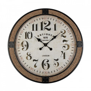 Ceas de perete rotund maro/negru din metal 80 cm Chession Versa Home
