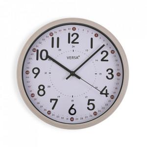 Ceas de perete rotund multicolor din plastic 30,5 cm Toian Versa Home