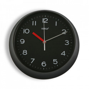 Ceas de perete rotund negru din plastic 29,3 cm Zoe Versa Home