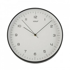 Ceas de perete rotund negru din plastic 31 cm Jovi Versa Home