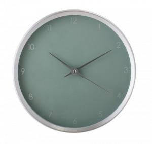 Ceas de perete verde/argintiu rotund din aluminiu 25x4,5 cm Bloomingville