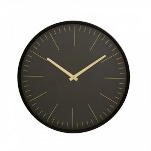 Ceas negru/auriu din fier si MDF pentru perete 45 cm Onyx Nordal