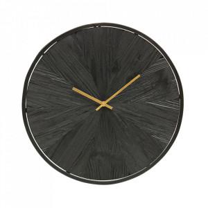 Ceas perete negru din MDF si metal 42 cm Valentino Woood