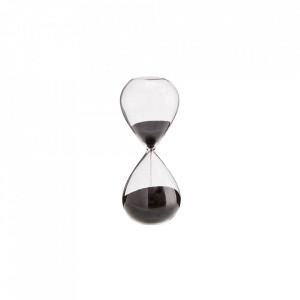 Clepsidra transparenta/neagra din sticla 13 cm Black Hourglass Mini Madam Stoltz