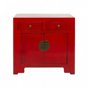 Comoda rosie din lemn ulm Red 2 Doors Santiago Pons